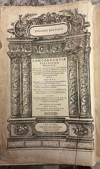 Johannes Buxtorf - Frontispiece of Buxtorf's concordance, Basel, 1632