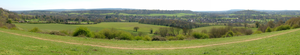 Chilworth, Surrey - Chilworth from the hill to the north