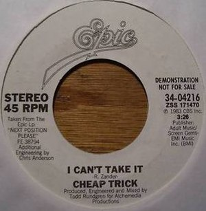 I Can't Take It - Image: Cheap Trick 1983 I Can't Take It Single