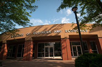 John Chambers College of Business and Economics - Image: College Bus Econ At WVU
