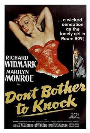 Don't Bother to Knock - Theatrical release poster