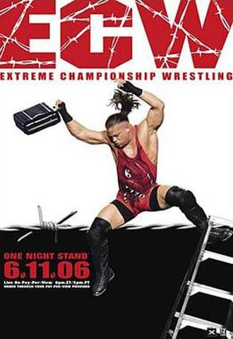 ECW One Night Stand (2006) - Promotional poster featuring Rob Van Dam at WrestleMania 22