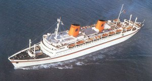 MS Kungsholm (1952) - Hapag-Lloyd Europa at sea.