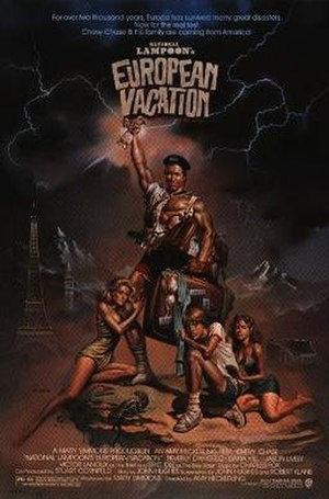 National Lampoon's European Vacation - Theatrical release poster by Boris Vallejo