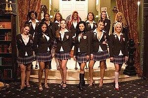 Flavor of Love Girls: Charm School - Cast of Flavor of Love Girls: Charm School (left to right):