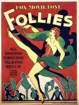 "Movietone sound system - A 1929 Fox Movietone poster boasts an ""all singing, dancing, talking revue."""