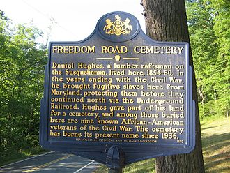 Daniel Hughes (underground railroad) - The Freedom Road Cemetery Historical Marker