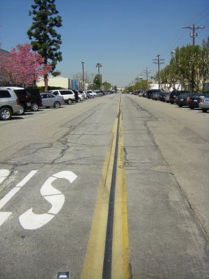 Grand Central Airport (California) - The former runway, now Grand Central Avenue