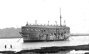 HMS Gannet (1878) - President (ex-Gannet) as the dormitory to Training Ship Mercury, moored in the Hamble