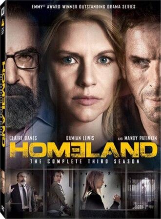 Homeland (season 3) - Image: Homeland S3 DVD
