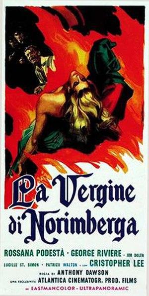 The Virgin of Nuremberg - Italian film poster for The Virgin of Nuremberg