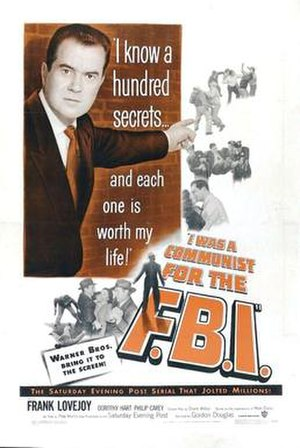 I Was a Communist for the FBI - Theatrical release poster