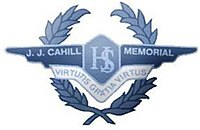JJ Cahill Memorial High School Crest