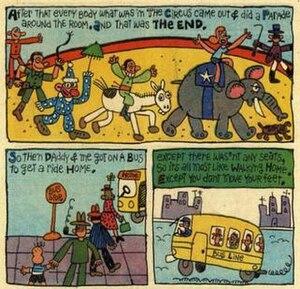 Jack Mendelsohn - Panels from Jack Mendelsohn's 1959-61 comic strip Jackys Diary.