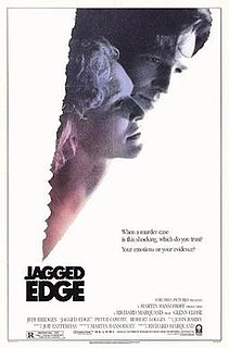 <i>Jagged Edge</i> (film) 1985 courtroom drama erotic thriller film by Richard Marquand