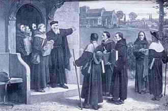Congregational church - Wycliffe speaking to Lollard preachers