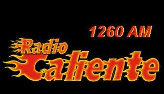 "KWEI (AM) - Logo as ""Radio Caliente"""