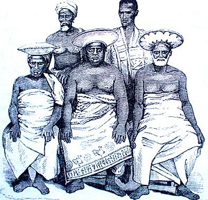 Radala - A group of Kandyan Chiefs from Tennent's Ceylon, published in 1859.