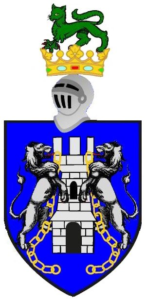 Enfield (heraldry) - The coat of arms of the O Kelly of Ui Maine, featuring a green enfield as the crest