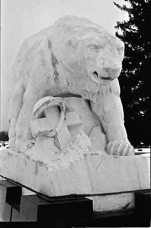 Léon Hermant - Polar Bear Expedition Monument in White Chapel Cemetery, Troy, Michigan