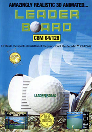 Leader Board - Commodore 64/128 cover art