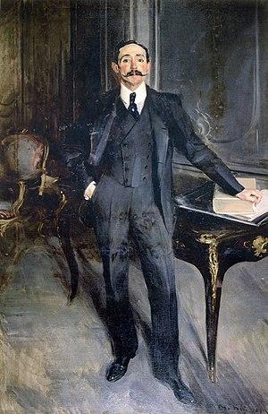 Lionel Phillips - Portrait of Lionel Phillips 1903 Oil on canvas 200 x 130 cm by Giovanni BOLDINI (1845–1931) Courtesy Johannesburg Art Gallery