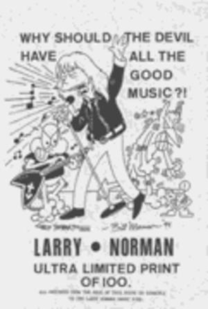 Larry Norman - The Simpsons parody comic of Larry Norman
