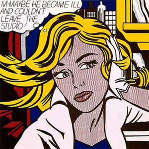 roy lichtenstein m maybe