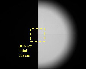 Optical transfer function - Image: MTF knife edge target