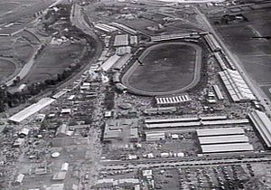 Melbourne Showgrounds - Aerial photo of the Royal Melbourne Showgrounds before World War II