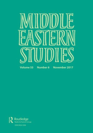 Middle Eastern Studies (journal) - Image: Middle Eastern Studies cover