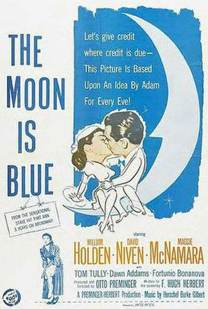 The Moon Is Blue - Image: Moon Blue Poster