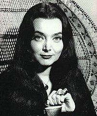 Carolyn Jones as Morticia Addams in the 1960s television series