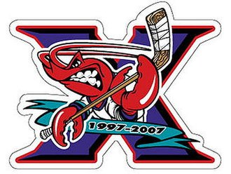 Bossier-Shreveport Mudbugs - 10th Anniversary Logo (2007).