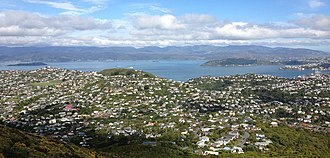 Ngaio, New Zealand - Ngaio, as seen from the hills above Ngaio.