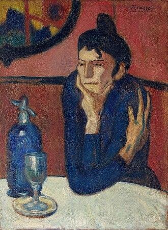 Pablo Picasso - Pablo Picasso, 1901-02, Femme au café (Absinthe Drinker), oil on canvas, 73 × 54 cm, Hermitage Museum, Saint Petersburg, Russia