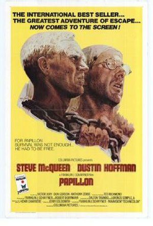Papillon (film) - Theatrical release poster by Tom Jung