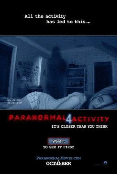 Picture of a movie: Paranormal Activity 4