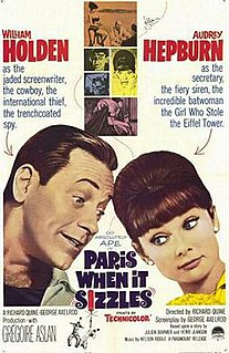 <i>Paris When It Sizzles</i> 1964 film directed by Richard Quine