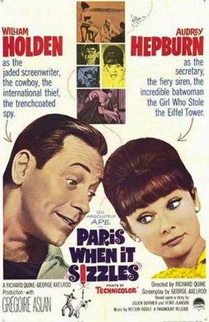 Paris When It Sizzles - original film poster