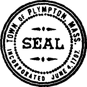 Official seal of Plympton, Massachusetts