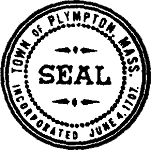 Plympton, Massachusetts - Image: Plympton Seal