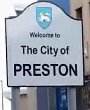 City of Preston, Lancashire - Entering the city centre from Fylde Road