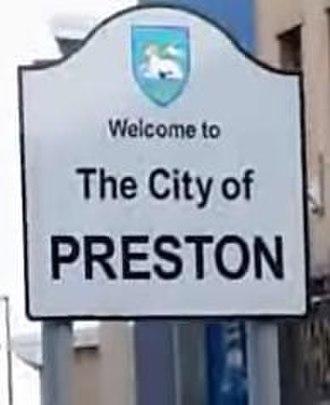 City of Preston, Lancashire - Entering the city centre from Fylde Road