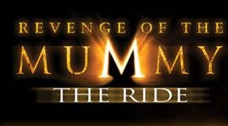 Revenge of the Mummy - Image: Revenge of the Mummy (roller coaster sign)