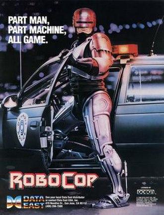 RoboCop (1988 video game) - North American arcade flyer