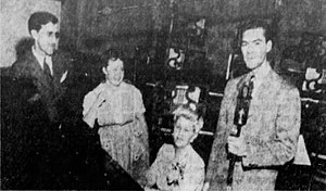 Ruth Lyons (broadcaster) - Lyons (center) at WSAI in 1943