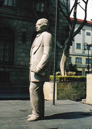 Sebastián Lerdo de Tejada - Monument to Sebastián Lerdo de Tejada in front of the Mexican Congress.