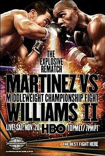 Sergio Martínez vs. Paul Williams II Boxing competition