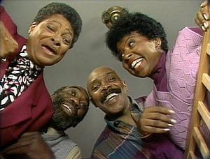 The Robinson family (Sesame Street) - Susan's parents' first appearance on the series.